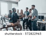 young professional team.  group ... | Shutterstock . vector #572822965