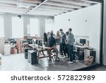 successful business team. full... | Shutterstock . vector #572822989