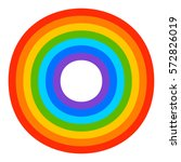 simple 7 color rainbow element | Shutterstock .eps vector #572826019