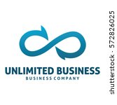 unlimited business logo | Shutterstock .eps vector #572826025