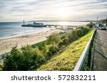 the view of bournemouth pier... | Shutterstock . vector #572832211