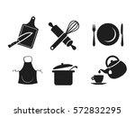 kitchen icon set  | Shutterstock . vector #572832295