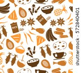 indian food theme set of simple ... | Shutterstock .eps vector #572840401