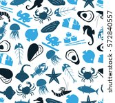seafood and fish food theme... | Shutterstock .eps vector #572840557