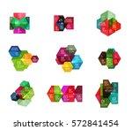 paper modern infographic... | Shutterstock .eps vector #572841454