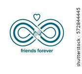 infinite friendship  friends... | Shutterstock .eps vector #572844445