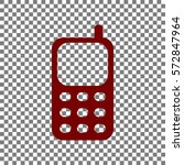cell phone sign. maroon icon on ... | Shutterstock .eps vector #572847964