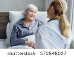 therapeutic taking care of her... | Shutterstock . vector #572848027
