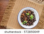 food insect  fried crickets in... | Shutterstock . vector #572850049