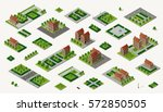 retro set isometric country... | Shutterstock .eps vector #572850505