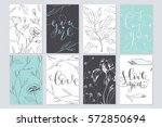 set of valentine's day cards....   Shutterstock .eps vector #572850694