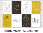 set of valentine's day cards.... | Shutterstock .eps vector #572850709