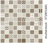 vector ornamental seamless... | Shutterstock .eps vector #572851681