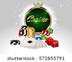 round casino golden frame with... | Shutterstock .eps vector #572855791
