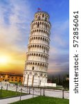 pisa  place of miracles  the... | Shutterstock . vector #572856061