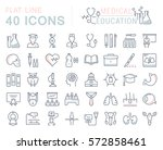 set vector line icons  sign and ... | Shutterstock .eps vector #572858461
