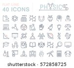 set vector line icons  sign and ... | Shutterstock .eps vector #572858725