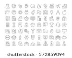 set vector line icons  sign and ... | Shutterstock .eps vector #572859094