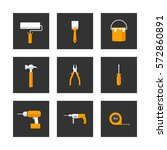 set of repair and construction... | Shutterstock .eps vector #572860891