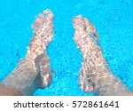 Male Legs In The Pool Water