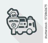 wrecker parking area | Shutterstock .eps vector #572863675