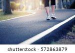 young fitness woman runner... | Shutterstock . vector #572863879