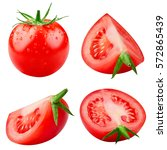 tasty tomatoes collection... | Shutterstock . vector #572865439