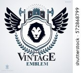 heraldic coat of arms... | Shutterstock .eps vector #572868799