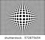 vector dotted background with... | Shutterstock .eps vector #572875654