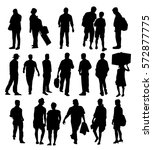 people silhouette   vector | Shutterstock .eps vector #572877775