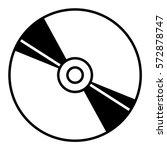 vector illustration of cd icon  | Shutterstock .eps vector #572878747