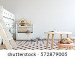 mock up wall in child room