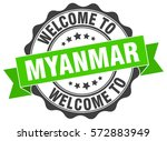 myanmar. welcome to myanmar... | Shutterstock .eps vector #572883949