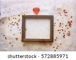 vintage valentine mockup....   Shutterstock . vector #572885971