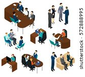 isometric recruitment process... | Shutterstock .eps vector #572888995