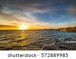 Sun Shining Over Alghero At...