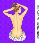 beautiful slim nude woman... | Shutterstock .eps vector #572892751