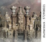 View Of A Fantasy Castle In A...