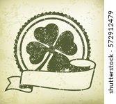 st. patrick's day clover. green ... | Shutterstock .eps vector #572912479