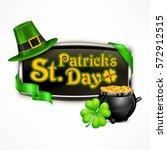 st. patrick s day vintage... | Shutterstock .eps vector #572912515