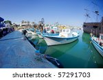 Fishing Boats At A Port. Cyprus