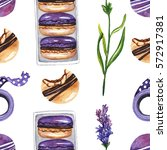 seamless pattern with macaroon  ...   Shutterstock . vector #572917381