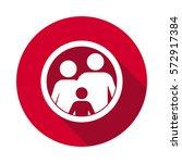 family flat icon | Shutterstock .eps vector #572917384