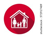 family and home flat icon | Shutterstock .eps vector #572917489