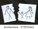 dad and mom with son divorce... | Shutterstock . vector #572925661