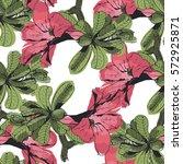 paradise tropical flower vector ... | Shutterstock .eps vector #572925871