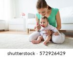 family  food  child  eating and ... | Shutterstock . vector #572926429
