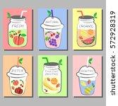 fresh fruits smoothie  detox... | Shutterstock .eps vector #572928319