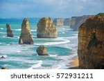 Small photo of The Twelves Apostles at Port Campbell National Park, Victoria, Australia.