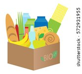 vector carton bio box with...